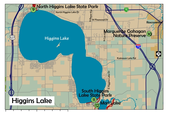 4 Higgins Lake area