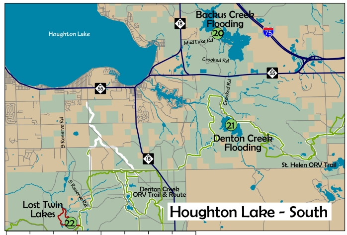 6 Houghton Lake South area